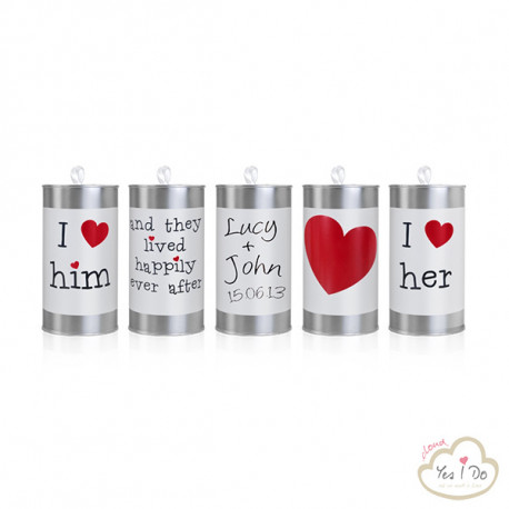 5 WEDDING CANS