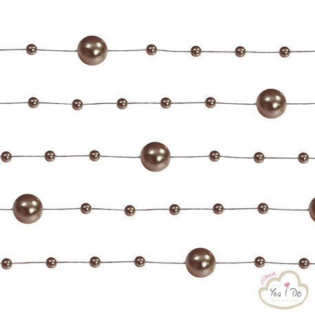 5 BROWN PEARL GARLANDS 1.3 MT