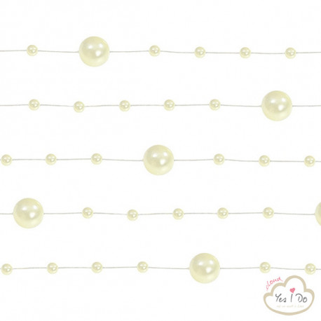 5 CREAM PEARL GARLANDS 1.3 MT