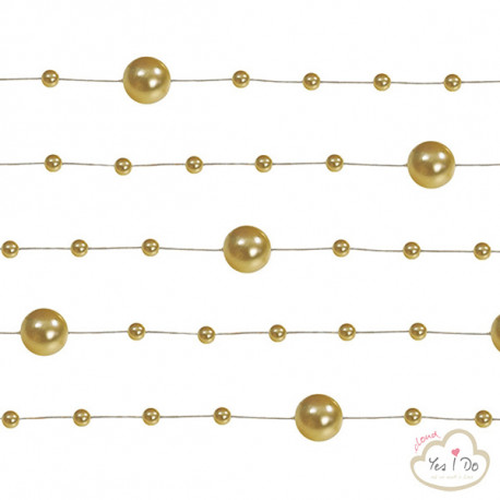 5 GOLD PEARL GARLAND 1.3 MT