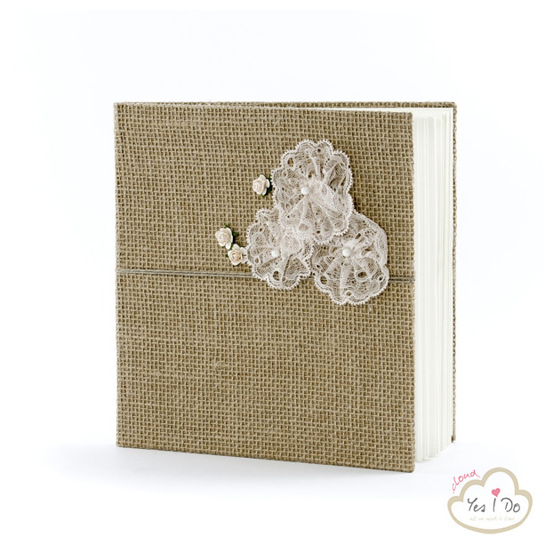 GUEST BOOK COUNTRY CHIC IN JUTA E FIORI DI PIZZO
