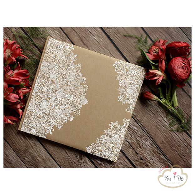 RUSTIC GUEST BOOK WITH WHITE ORNAMENTS