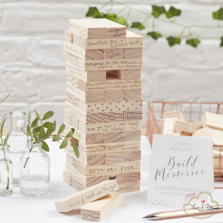 MEMORY BUILDING BLOCKS GUEST BOOK