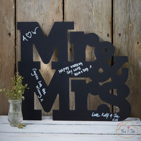MR AND MRS CHALKBOARD ALTERNATIVE GUESTBOOK