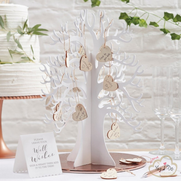 WOODEN WISHING TREE GUEST BOOK
