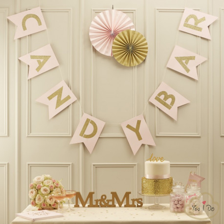 PINK & GOLD CANDY BAR BUNTING