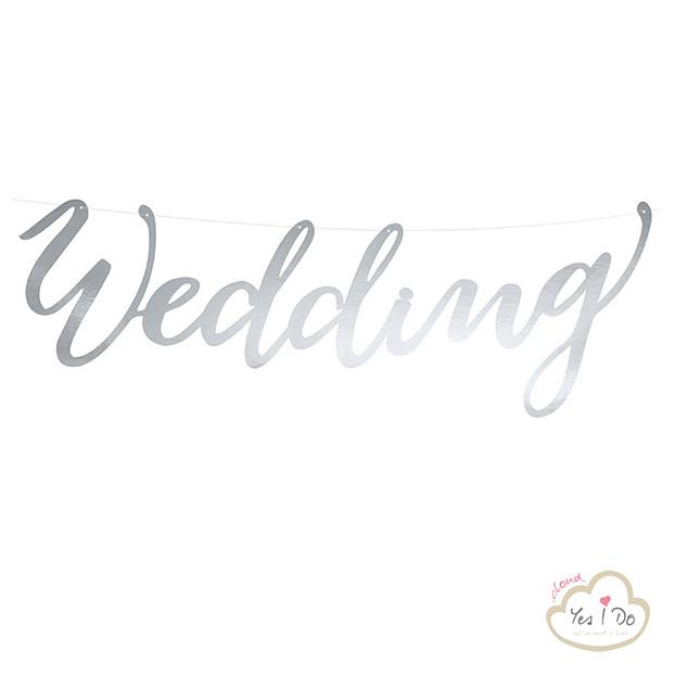 BANNER WEDDING ARGENTO