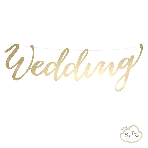GOLD BANNER WEDDING