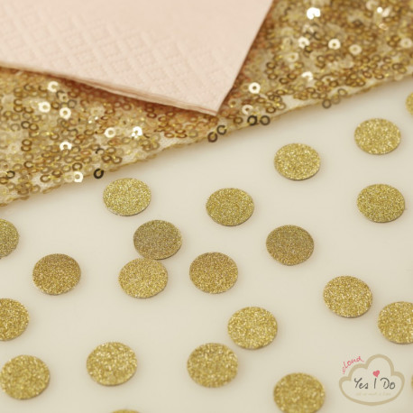 GOLD GLITTERY TABLE CONFETTI