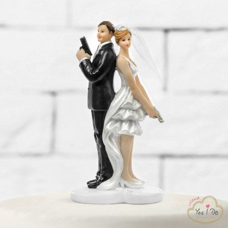 SECRET AGENTS CAKE TOPPER