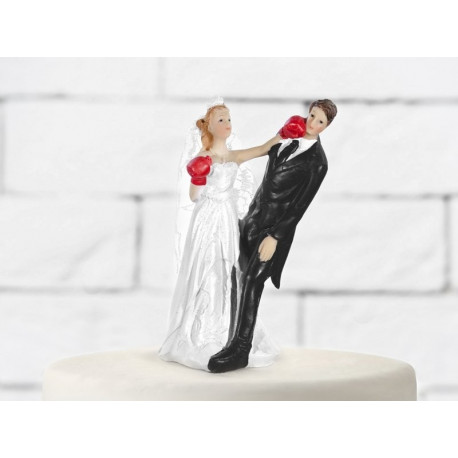 CAKE TOPPER BOXING BRIDE