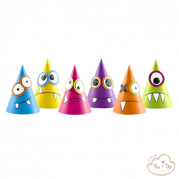 6 PAPER HATS MONSTERS