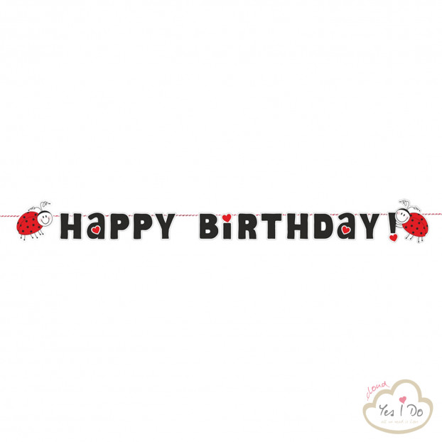 FESTONE HAPPY BIRTHDAY COCCINELLA