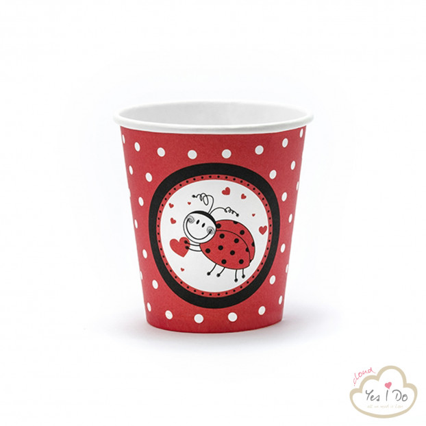 6 PAPER CUPS LADYBUG