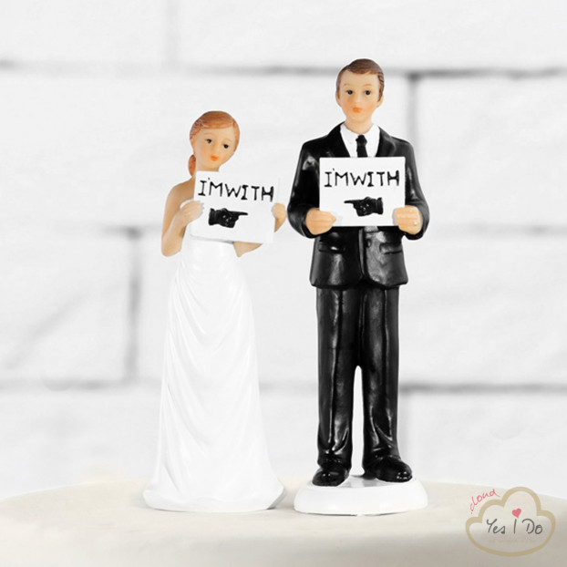 CAKE TOPPER I'M WITH