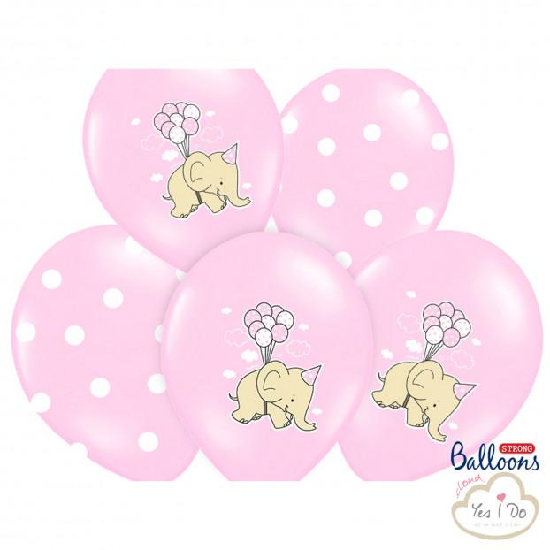50 ELEPHANT PINK BALLOONS