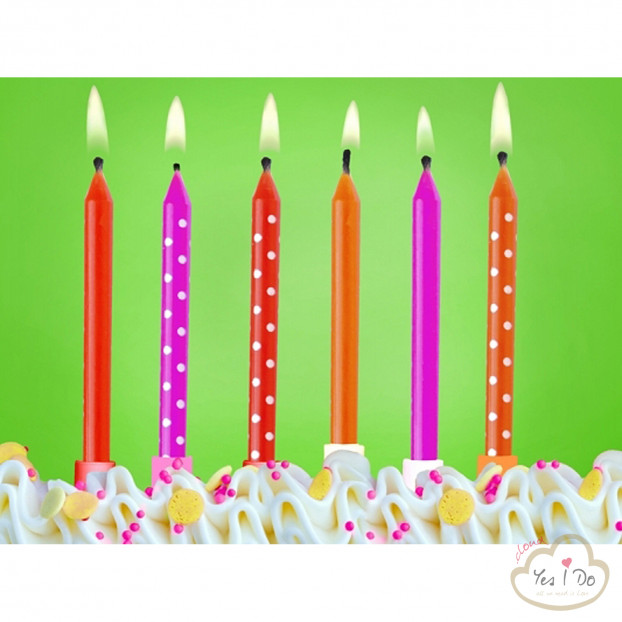 6 COLORED CANDLES