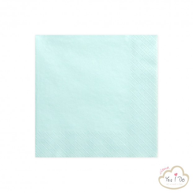 PALE TURQUOISE NAPKINS