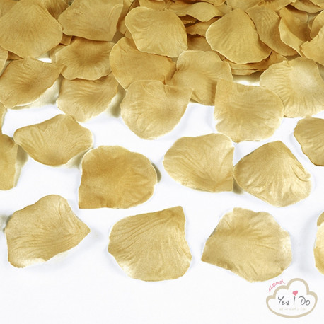 100 ARTIFICIAL GOLD ROSE PETALS