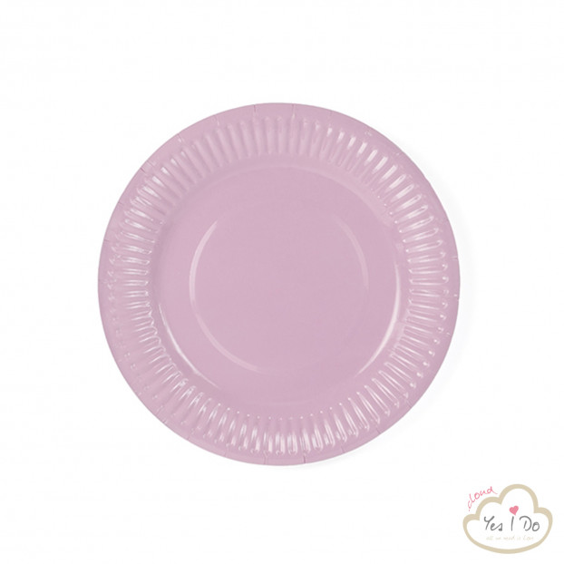 6 LIGHT POWDER PINK PAPER PLATES