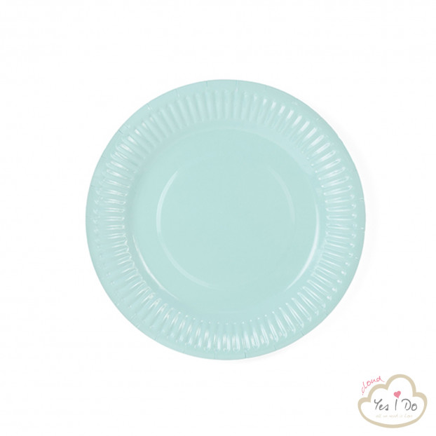 6 TURQUOISE PAPER PLATES