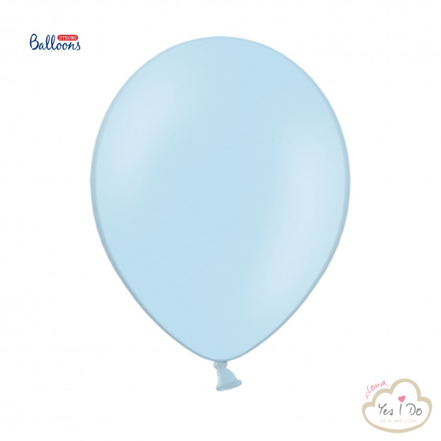 10 PASTEL BABY BLUE STRONG BALLOONS
