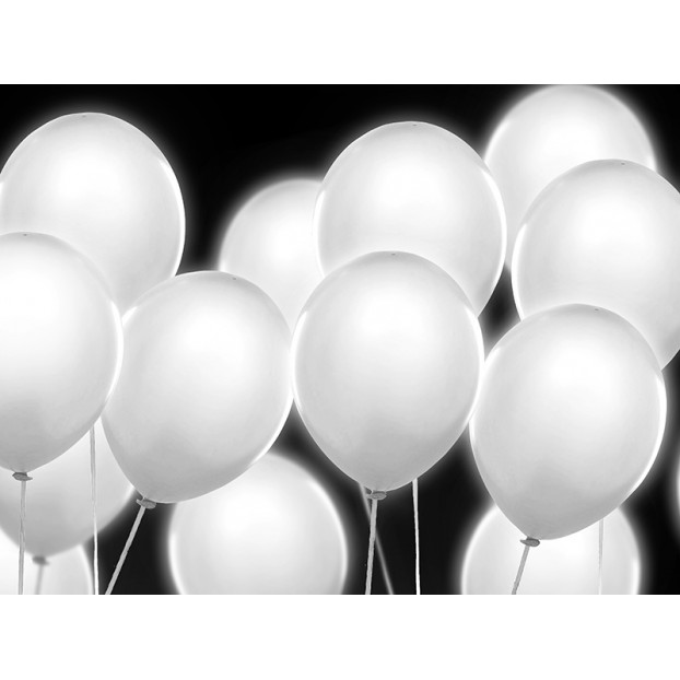 WHITE LED BALLOONS