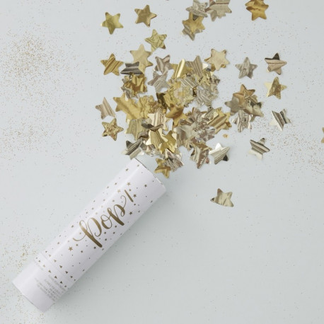 GOLD STAR COMPRESSED AIR CONFETTI CANNON SHOOTER