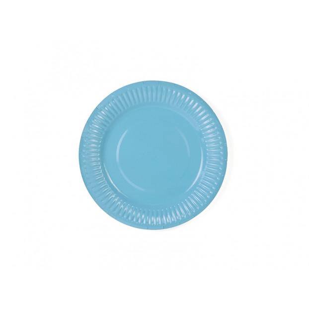 6 BLUE PAPER PLATES