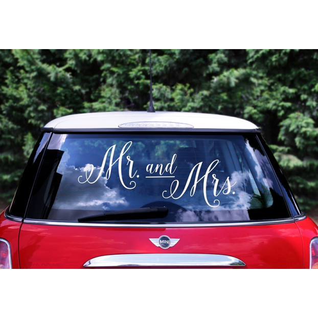 Sticker per auto - Mr. and Mrs.