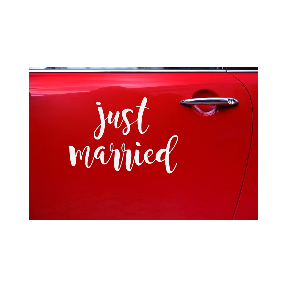 Wedding Day Car Sticker Just Married Yesido Cloud