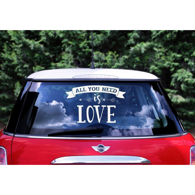 Wedding day car sticker - All you need is love
