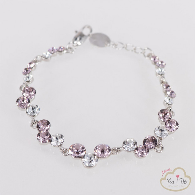 BRACCIALE IN STRASS CRYSTAL-ROSE