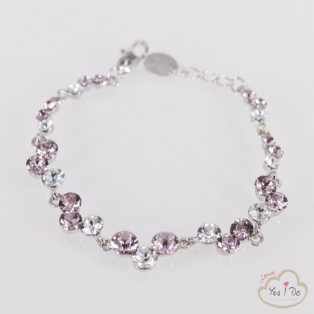 CRYSTAL-ROSE BRACELET
