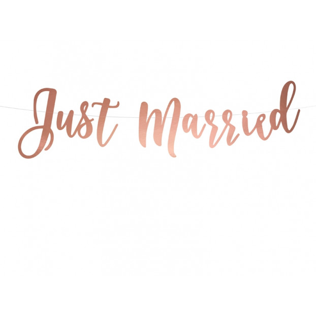 ROSE GOLD BANNER JUST MARRIED
