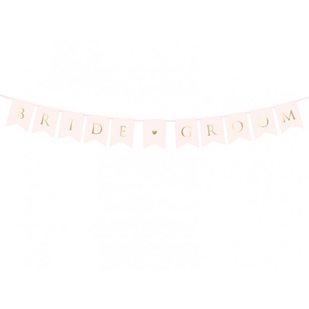 ROSE GOLD BANNER BRIDE GROOM