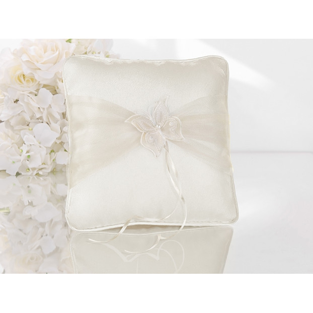 RING BEARER PILLOW WITH BUTTERFLY