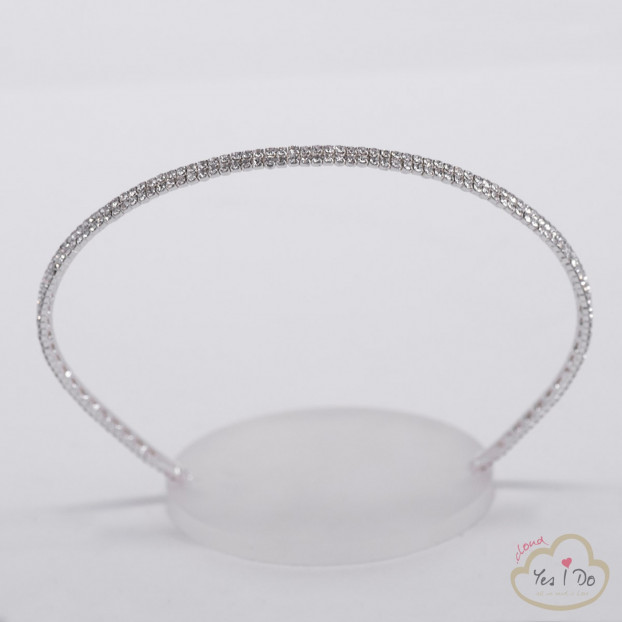 ELEGANT HEADBAND WITH RHINESTONES