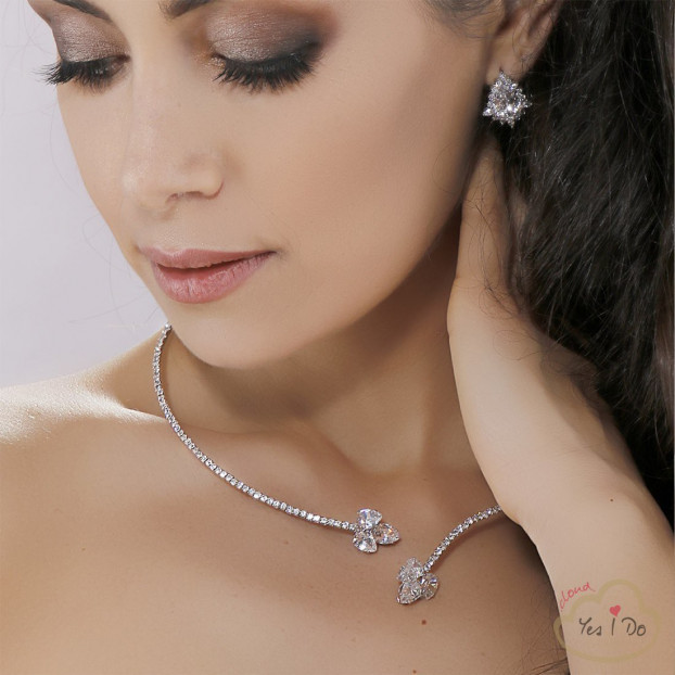 COLLANA GIROCOLLO IN STRASS CRYSTAL
