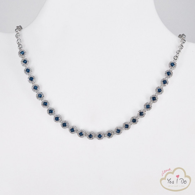 COLLANA IN STRASS CRYSTAL-BLUE