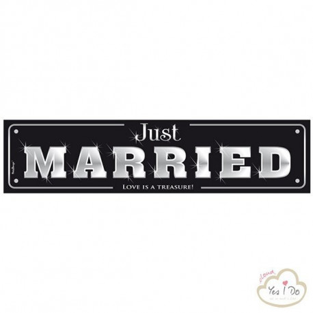 PLATE CAR JUST MARRIED BLACK EDITION