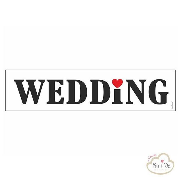PLATE CAR WEDDING