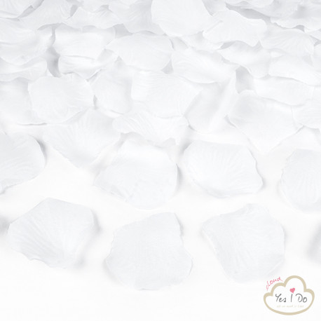 100 ARTIFICIAL WHITE ROSE PETALS