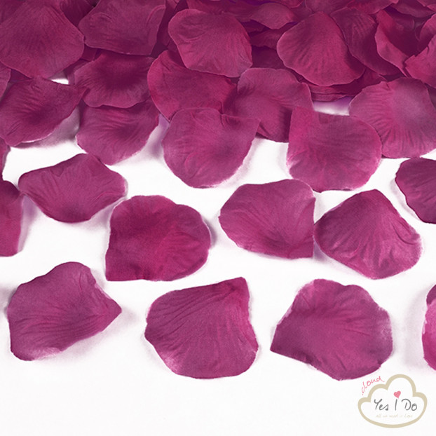 100 ARTIFICIAL DARK PINK ROSE PETALS