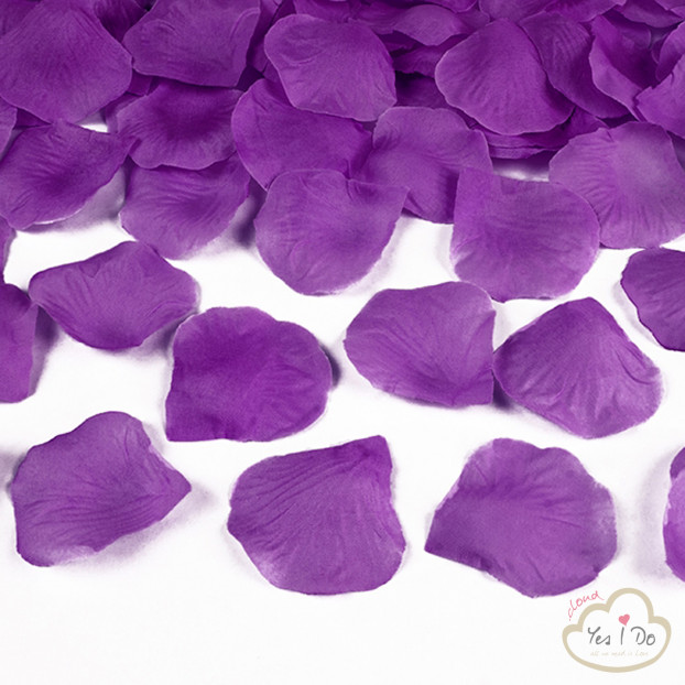 100 ARTIFICIAL PLUM ROSE PETALS