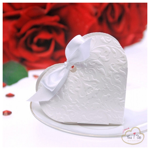 10 BOX CUORE DECORATO
