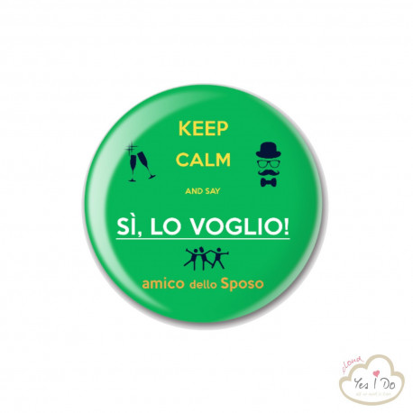 "GREEN PIN ""AMICO DELLO SPOSO"""