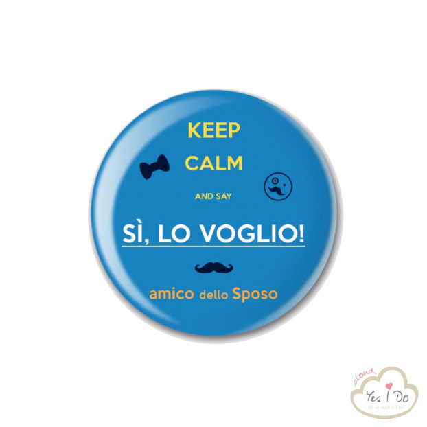 "BLUE PIN ""AMICO DELLO SPOSO"""