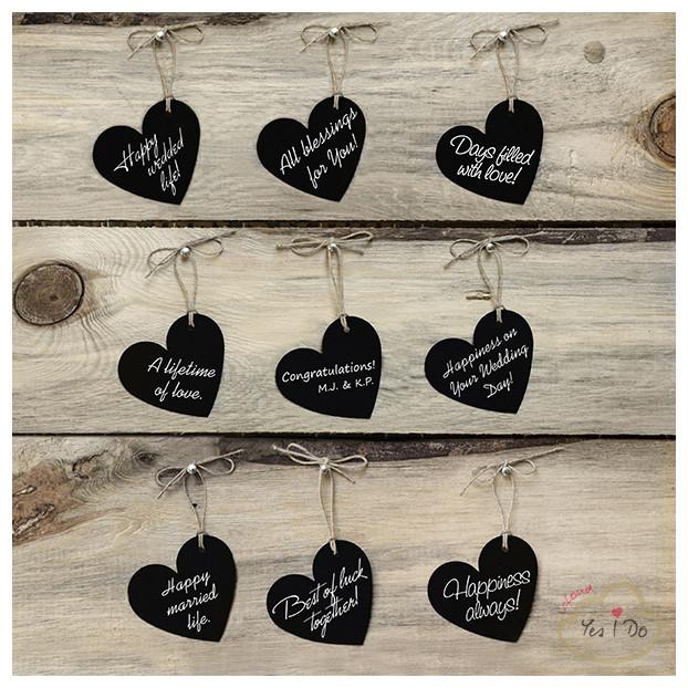 10 HEART TAGS
