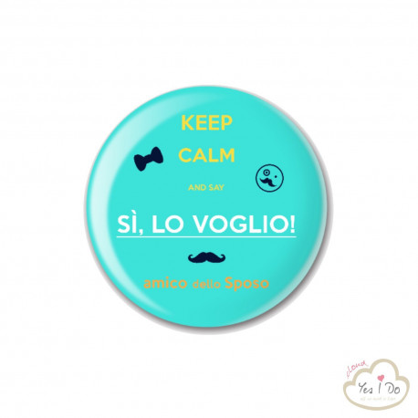 "LIGHT BLUE PIN ""AMICO DELLO SPOSO"""